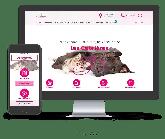 Sitei nternet veterinaire les cabrieres responsive