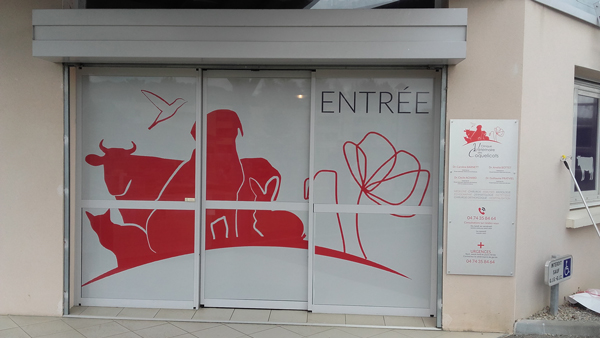 Autocollants-veterinaires-vitrine-clinique-veterinaire-des-coquelicots-01-Lagnieu-(2)