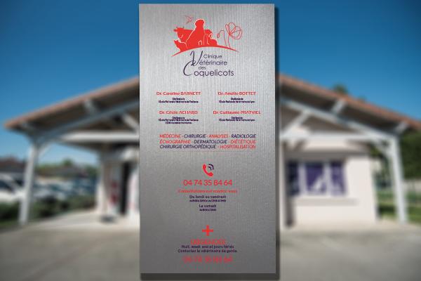 Plaque Vétérinaire. 130x55 cm
