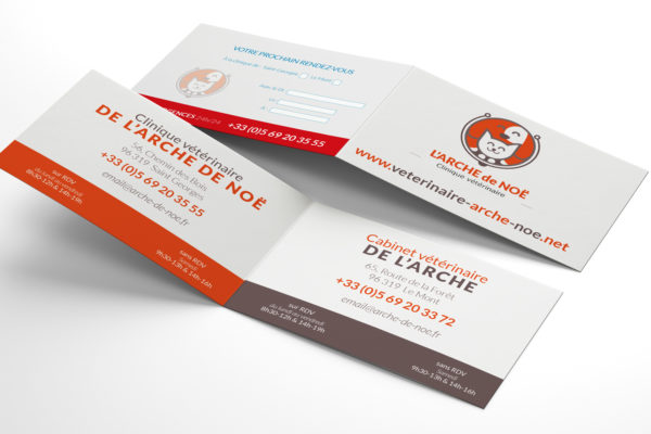 Carte-de-visite-veterinaire-double