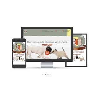site internet veterinaire vetaction midivet